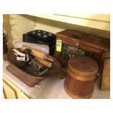 Bread Box, Dough Bowl, Rolling Pin,