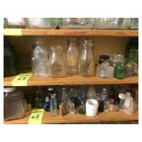In Kitchen Top 4 Shelves- Old Bottles & Jars