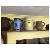 5 Pitchers - Stoneware and Pottery