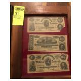 Confederate Money- 2 $100 Richmond Notes,