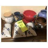 9 pcs. Pottery, Whynot, Kovack, Magnolia,