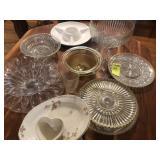 Table Lot of Glass Ware & China 22 pcs.