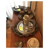 16 pcs. Silver Plate, Trays & Misc.