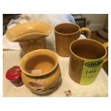 4 pcs. Latham Pottery, Tan - Seagrove