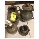 6 pcs. Latham Pottery, Purplish - Seagrove