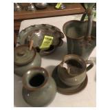 6 pcs. Latham Pottery Seagrove