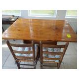 Cedar Table by Mr. Teague w/ 2 Chairs & Bench