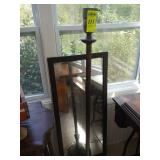 Vintage Pole Lamp and Mirror