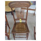Press Back Oak Chair