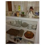 4 Shelves of Glassware