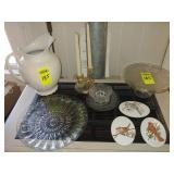 11 pc. Glassware, Harp Cake Stand,