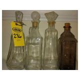 4 Glass Whiskey Decanters