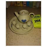Minature Kovack Pottery Tea Set 1996