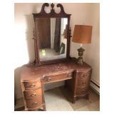 Knee Hole Dresser w/ Lamp