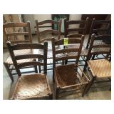 7 Ladder Back Chairs