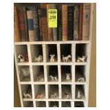 Book Shelf w/ Books & What-Nots Shelves w/ Dogs