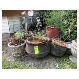 Flower Pots, Some Concrete & Iron Pots