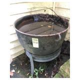 25 Gallon Cast Iron Pot on Stand