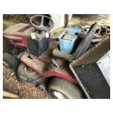 Contents of Shop Building, Murray Riding Mower