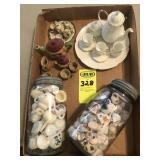 Jars w/ Mini tes sets &  Mini Tea Sets