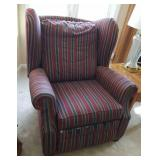 BY-DESIGN STRIPPED FABRIC RECLINER - needs new