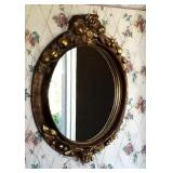 """WALL MIRROR WITH ROSE & APPLE PATTERN 29""""Wx33""""H"""