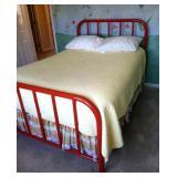 DOUBLE METAL HEADBOARD & FOOT BOARD BED WITH