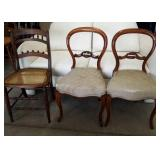 Set of 3 Chairs Needs Minor Repair/Recovering