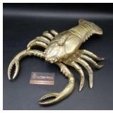 Large Brass Crab Dish
