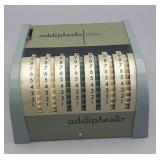 Vintage Addipresto Adding Machine - missing reset