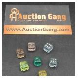 Group of Small Glass Dice