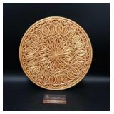 """Hand-made Carved Wood Trivet/Wall Decor 12"""""""