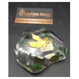24K Gold Electroplate Hawk Paperweight