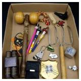 Flat of Misc. -Garden Tool, Playing Cards, Back
