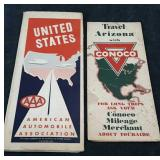 Vintage Pair of Road Maps - American Automobile