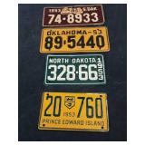 Vintage Bicycle License Plates 1953 Lot of 4