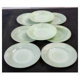 Vintage Jadeite Saucers Lot of 8