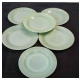 Vintage Lot of Jadeite Bread Plates Lot of 6