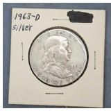 1963D Franklin Silver Half Dollar Bag #2