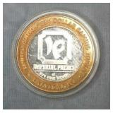 Imperial Palace Gaming Token .999 Silver Center