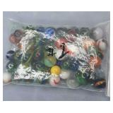 Vintage Bag of Assorted Marbles Bag #1