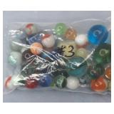 Vintage Bag of Assorted Marbles Bag #3