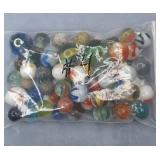 Vintage Bag of Assorted Marbles Bag #4