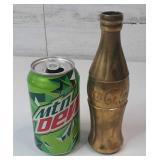 "Brass Coca-Cola Bottle 7"" tall"