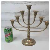 "Brass Menorah 12"" tall"