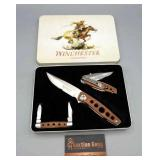 Knife - 2009 Winchester Knife Set Wood Handle 3