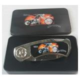 Knife - *NEW* Chopper Motorcycle w Collector Tin