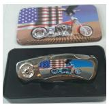 Knife - Motorcycle with Collector Tin