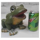"Plastic Frog Yard Ornament 7"" tall and 7"" wide"