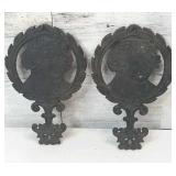 Pair of John Adams Cast Iron Trivets